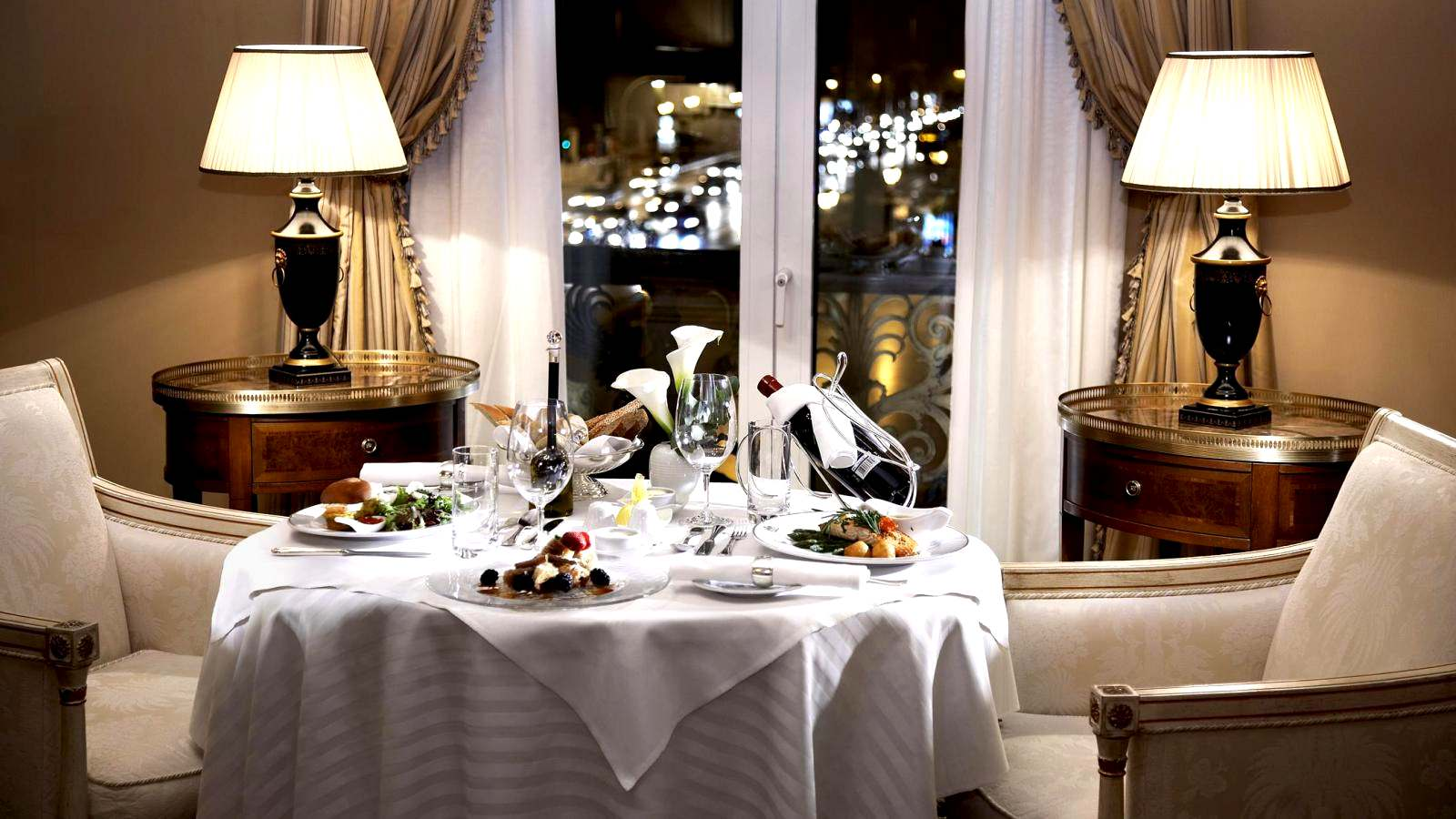 In-room dining - Enjoy the privacy of your room at the Hotel Grande Bretagne