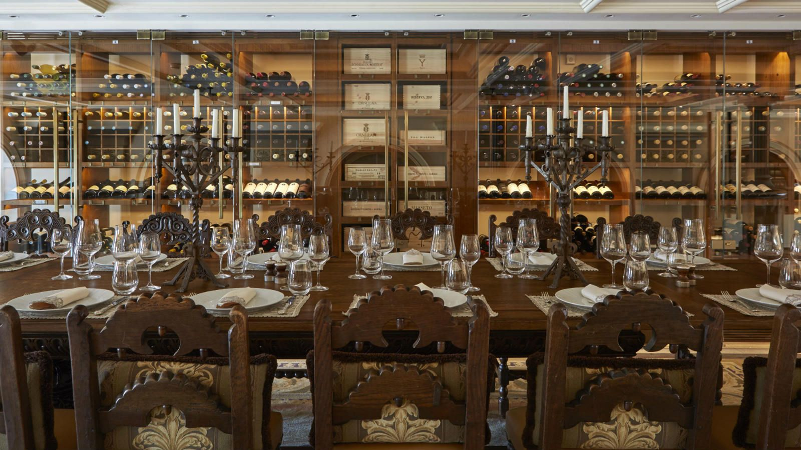 19 century table at the Wine Library - private wine tastings and food pairings at the GB Corner Gifts and Flavors concept store of Hotel Grande Bretagne Athens