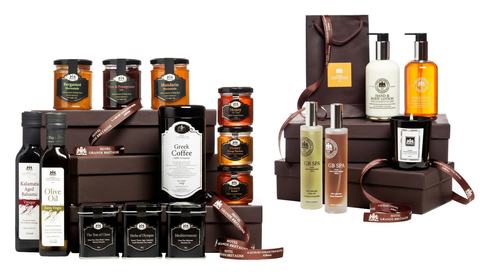 Food and Spa products for online purchase from the E-store of Hotel Grande Bretagne in Athens