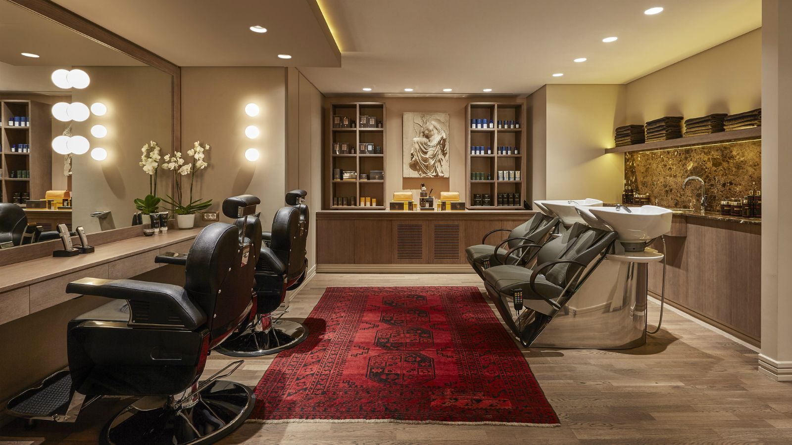 Hair spa salon located within the GB Spa - Hotel Grande Bretagne, Athens
