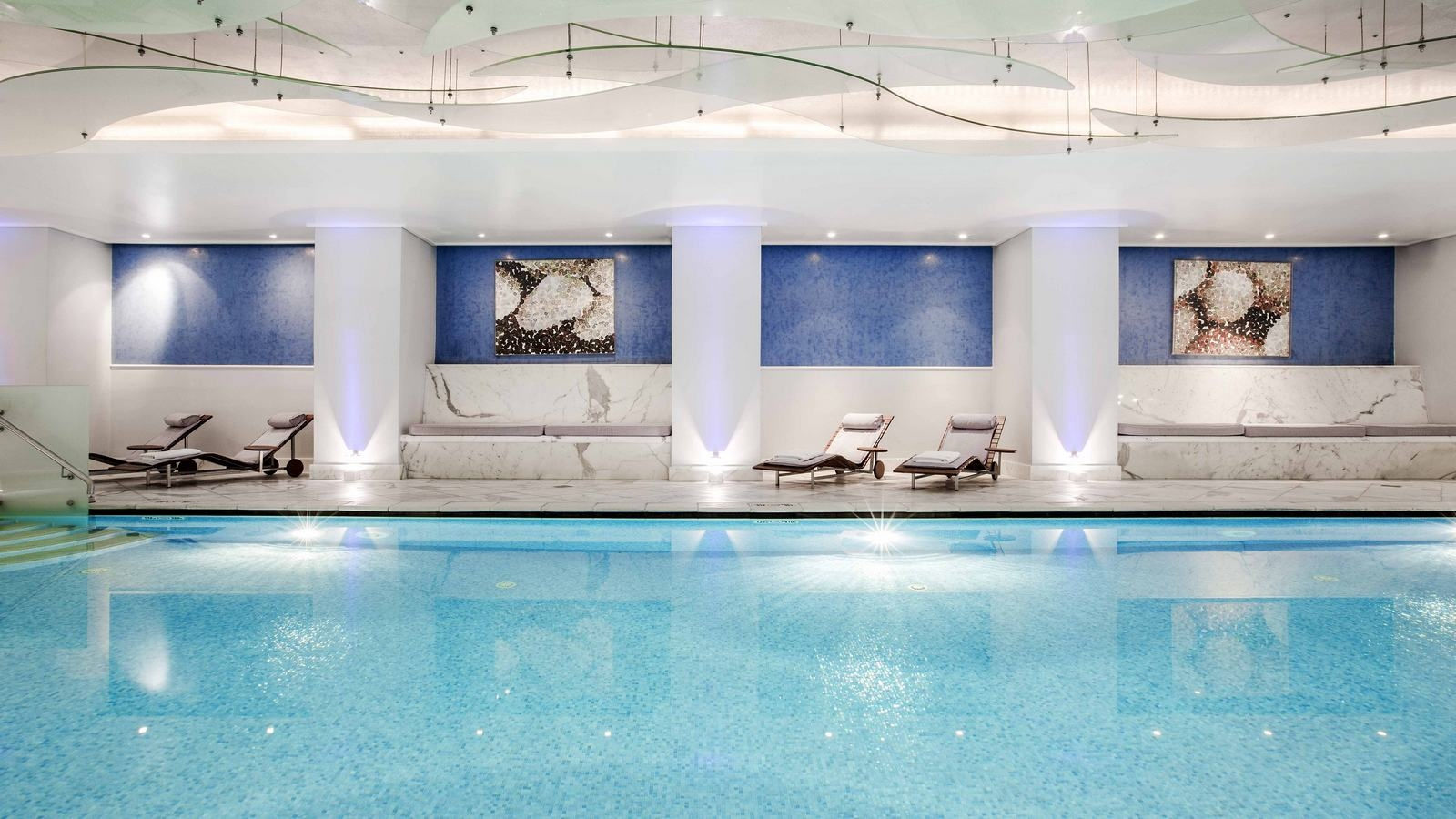 The indoor heated pool of the GB Spa is operating throughout the year - Hotel Grande Bretagne, Athens