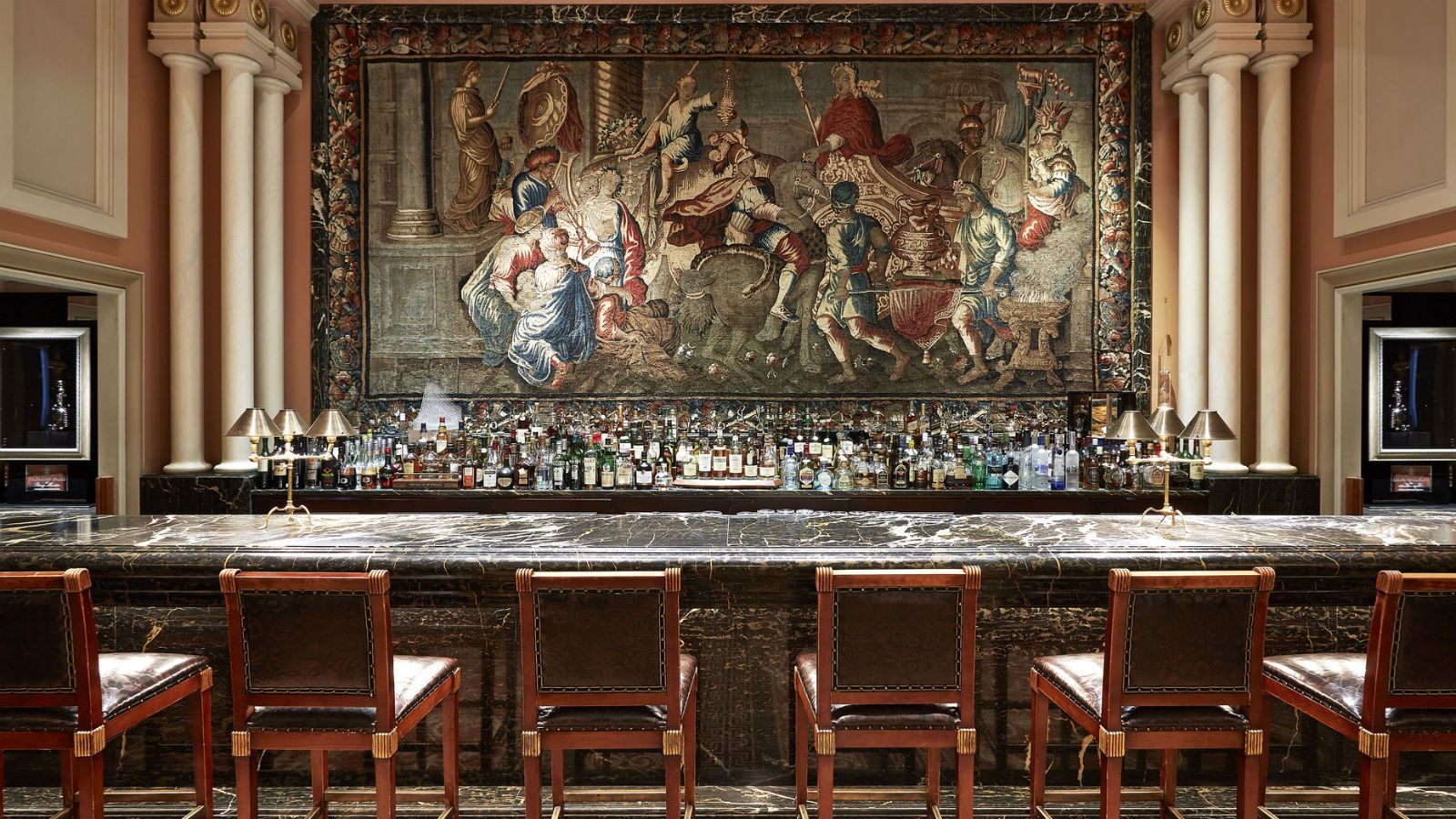 Hotel Grande Bretagne Athens  Alexander's Bar highlight is the 18th century tapestry of Alexander the Great