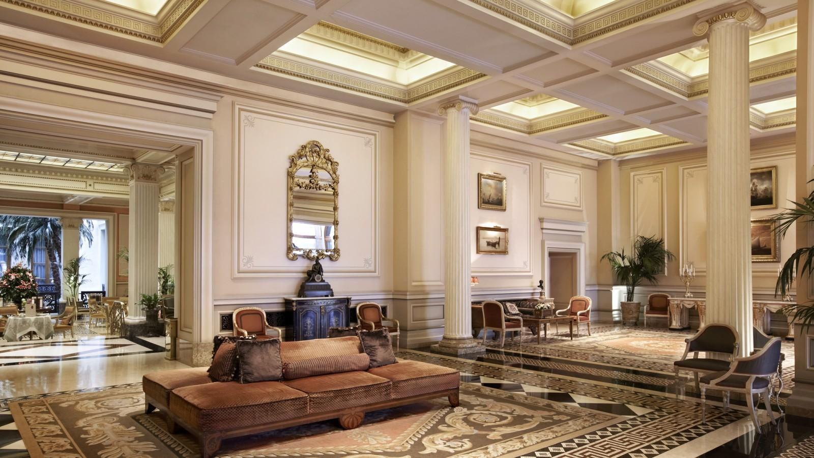 Lobby at Hotel Grande Bretagne in Athens, providing our guests with complimentary Wi-Fi Internet access