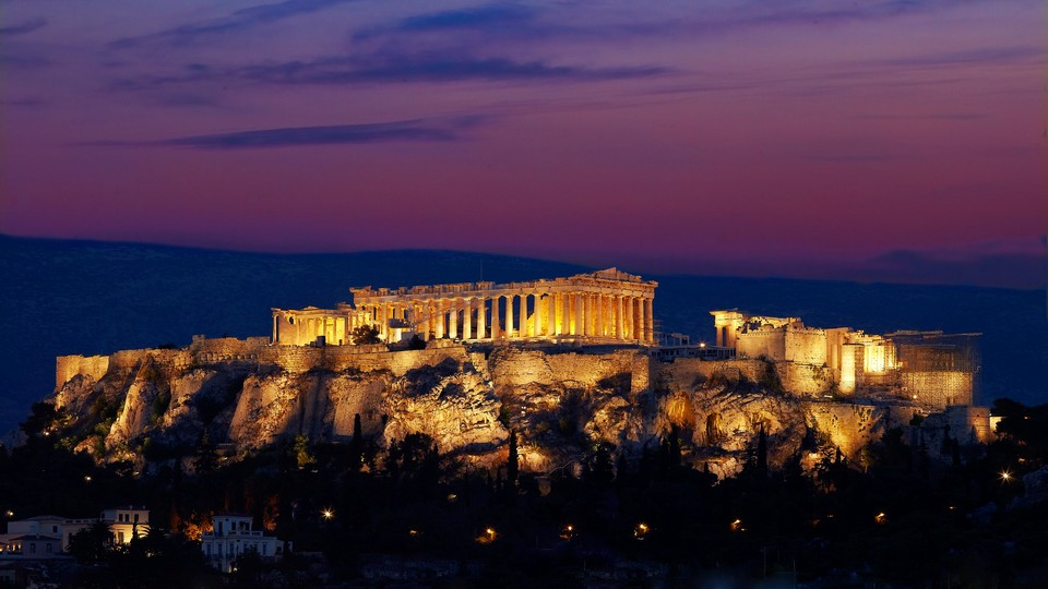 The fabled Acropolis & Parthenon Temple_Night View
